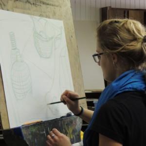 Northfield student 2015 drawing class