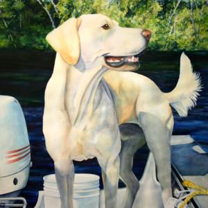 Petey Goes Fishing 30 x 36 (3)