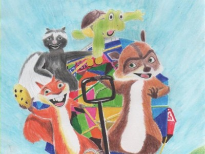 over_the_hedge_drawing_by_antonio248