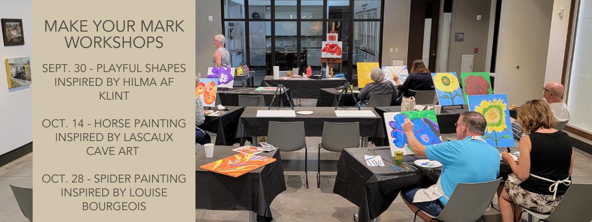 Make your mark follow along painting workshop at Mark Arts